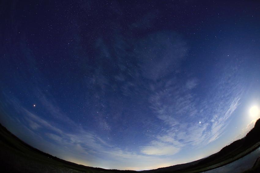 20180622月没前の星空