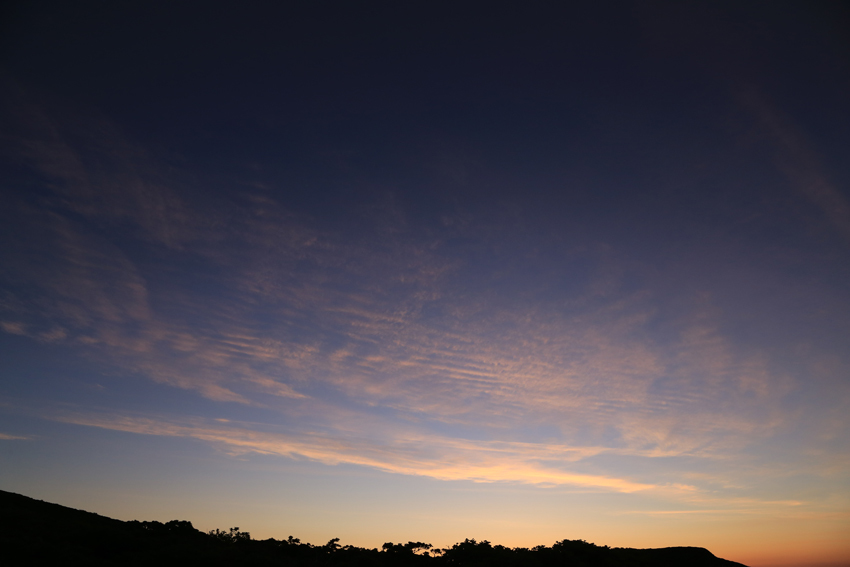 20180623日の出直前の東天