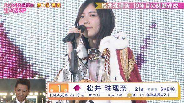 第10回AKB48世界選抜総選挙 松井珠理奈