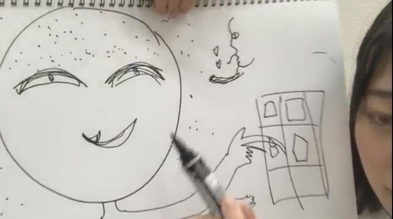 阪口珠美が描いた伊藤かりんの似顔絵