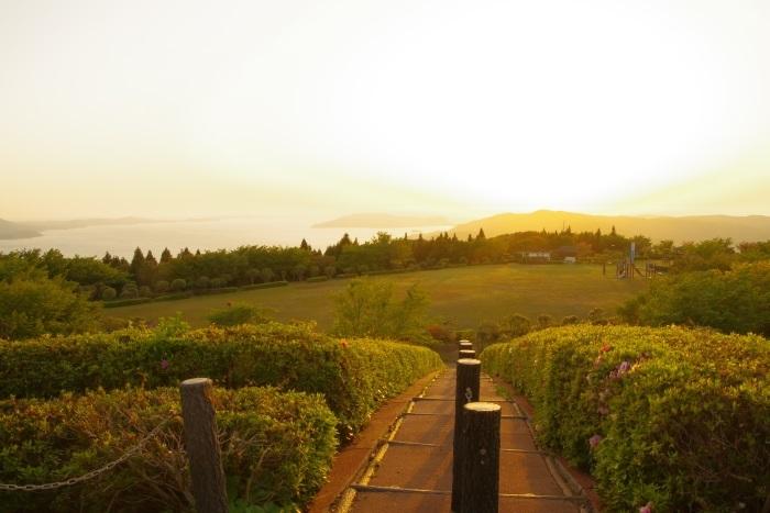 妙見山公園夕焼け