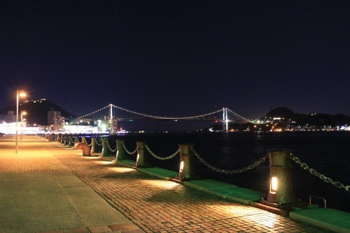 ライトアップ関門橋