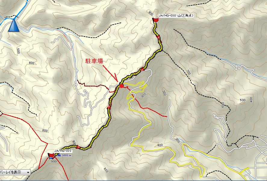 千ヶ峰-深谷山/地図