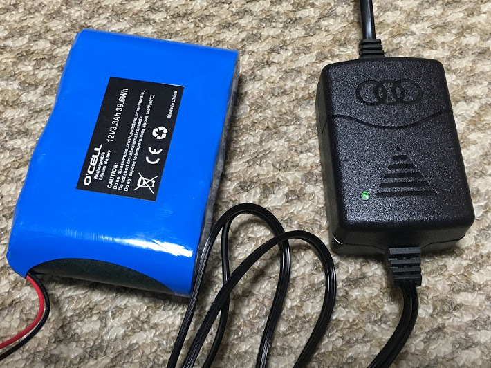 O'CELL12V3Ah/バッテリーと充電器