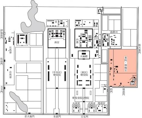 図 奈良時代後半の平城宮