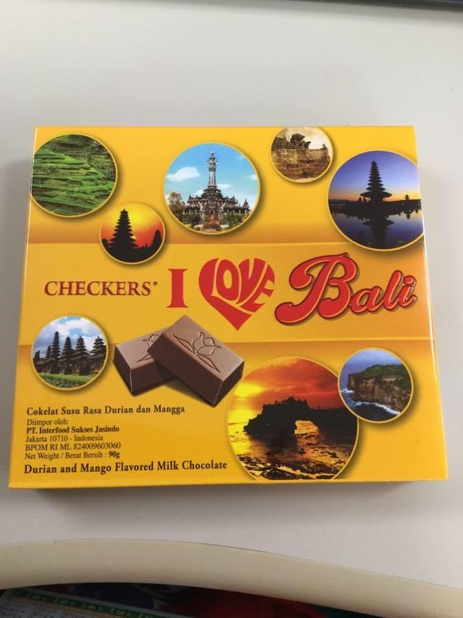 ランチ後のデザートとしてバリで自分用に買ったチョコを食べたら、えらいめにあった!!!