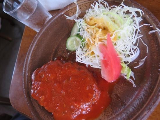 軽井沢 古月堂さん ハンバーグ定食