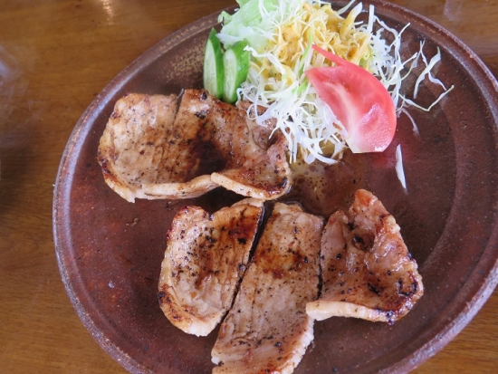 軽井沢 古月堂さん しょうが焼き定食