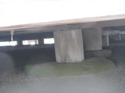 瑞巌寺 五大堂 縁の下