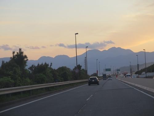 西湘バイパスから箱根山