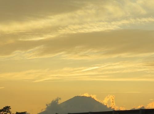 西湘バイパスから富士山