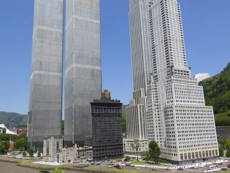 東武ワールドスクウェア ワールドトレードセンタービル、エンパイヤステートビル、クライスラービル、フラットアイアンビル