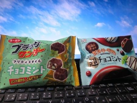 チョコミント味のお菓子