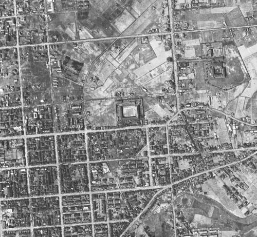 空中写真 1948年米軍 北光 元村線界隈