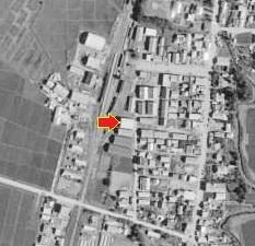 空中写真 1966年 篠路 田中家倉庫