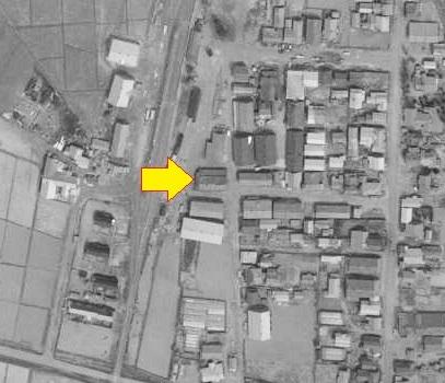 空中写真 1961年 篠路 田中家倉庫