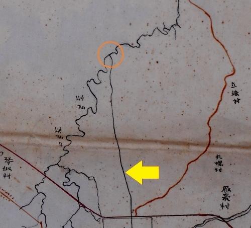 北海道一部之図 明治15年 創成川 拡大
