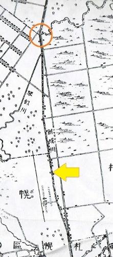 明治29年地形図 創成川
