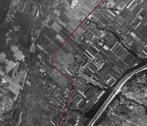 空中写真 1947年 江別 大曲