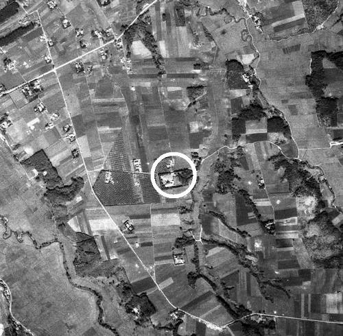 空中写真 1947年米軍 小野幌小学校