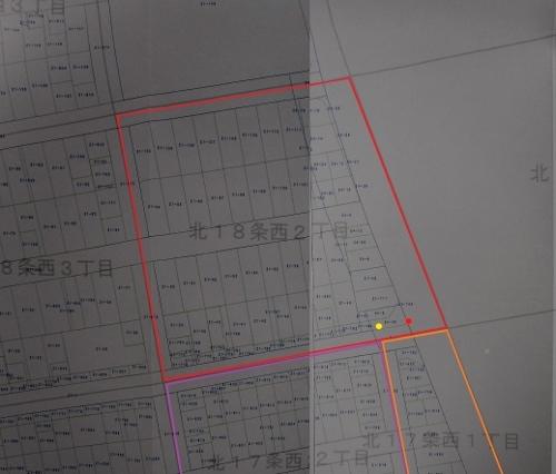 札幌市地番図 北18条西2丁目周辺