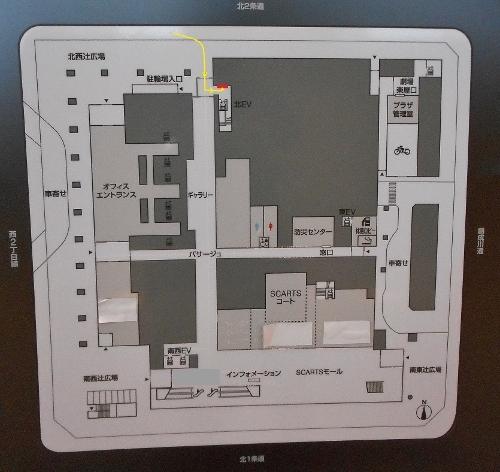 さっぽろ創世スクエア 1階平面図 レリーフ位置