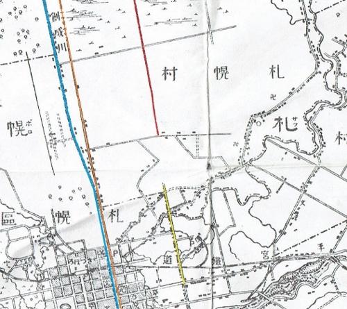 明治29年地形図 東区クランク 考察