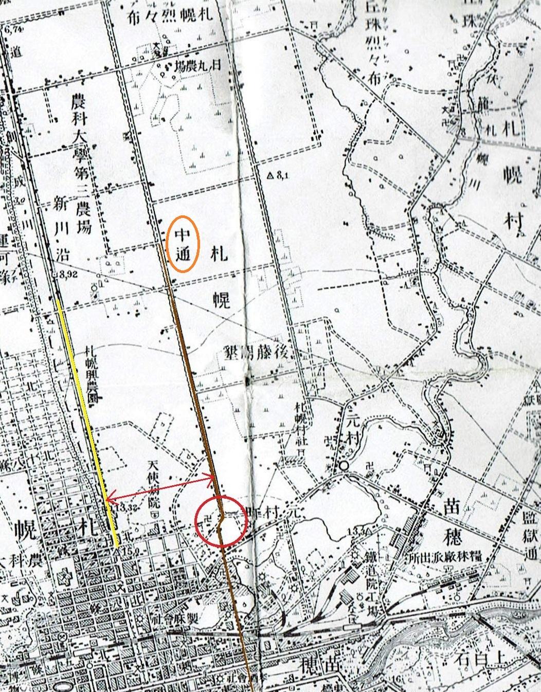 大正5年地形図 東区クランク