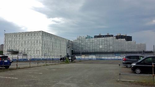 JR苗穂駅 建設中新駅舎