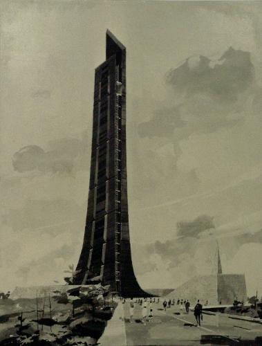 北海道百年記念塔 1967年井口健応募図案