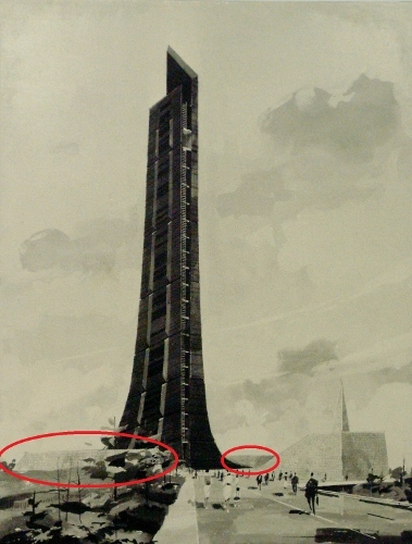 北海道百年記念塔 石積みマッス