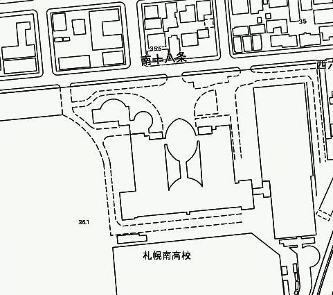 札幌市現況図 札幌南高