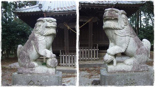 四所神社・狛犬