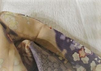 うそつき袖をつける