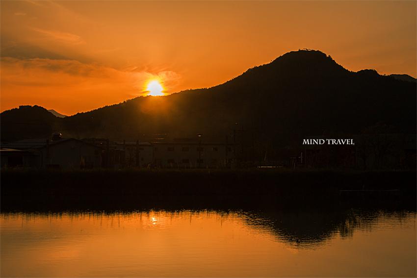 黒井城 夕日