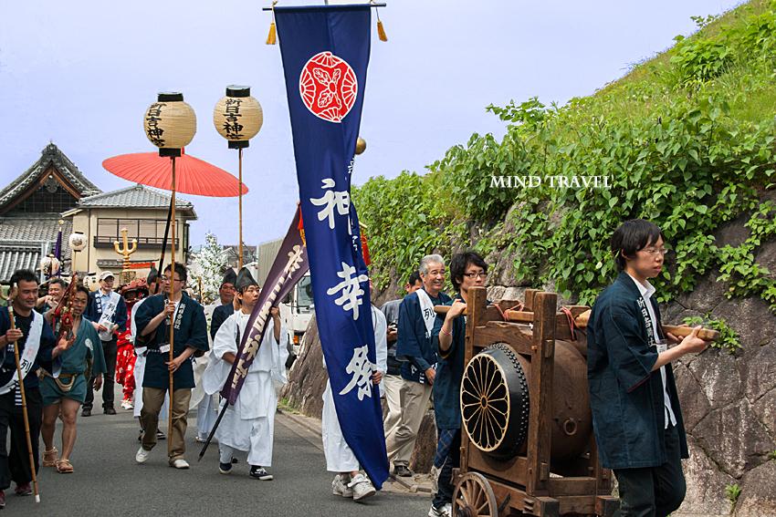 新日吉神社 紙幸祭 太鼓