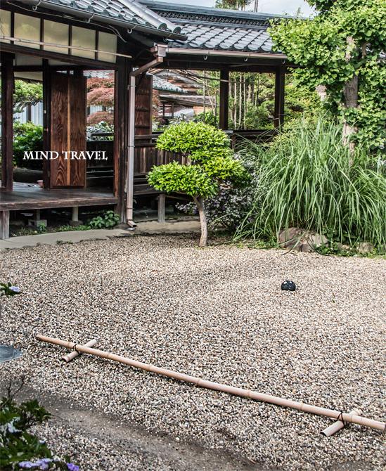 璉珹寺-庭の渦巻き