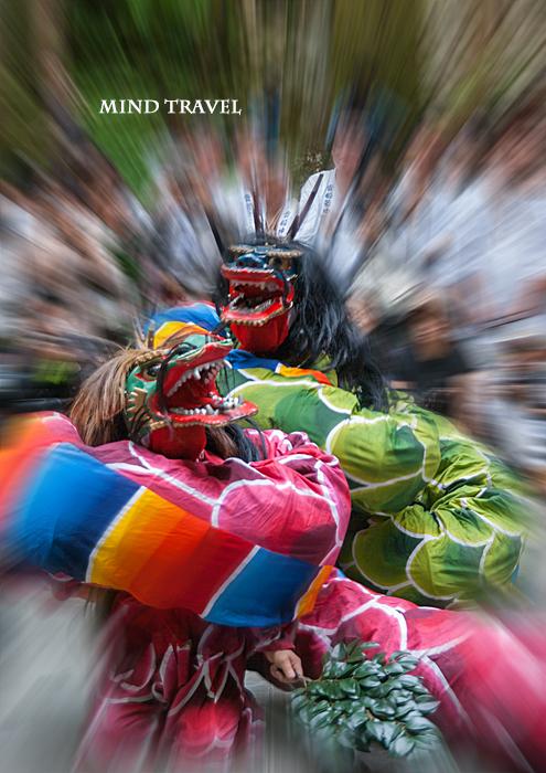 貴船祭-出雲神楽 巻き付く二匹の八岐大蛇