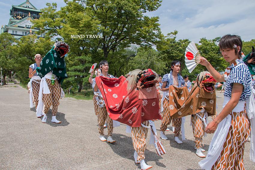 生玉夏祭 大阪城にて 獅子