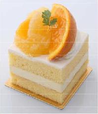 20180625なるとオレンジのショートケーキ