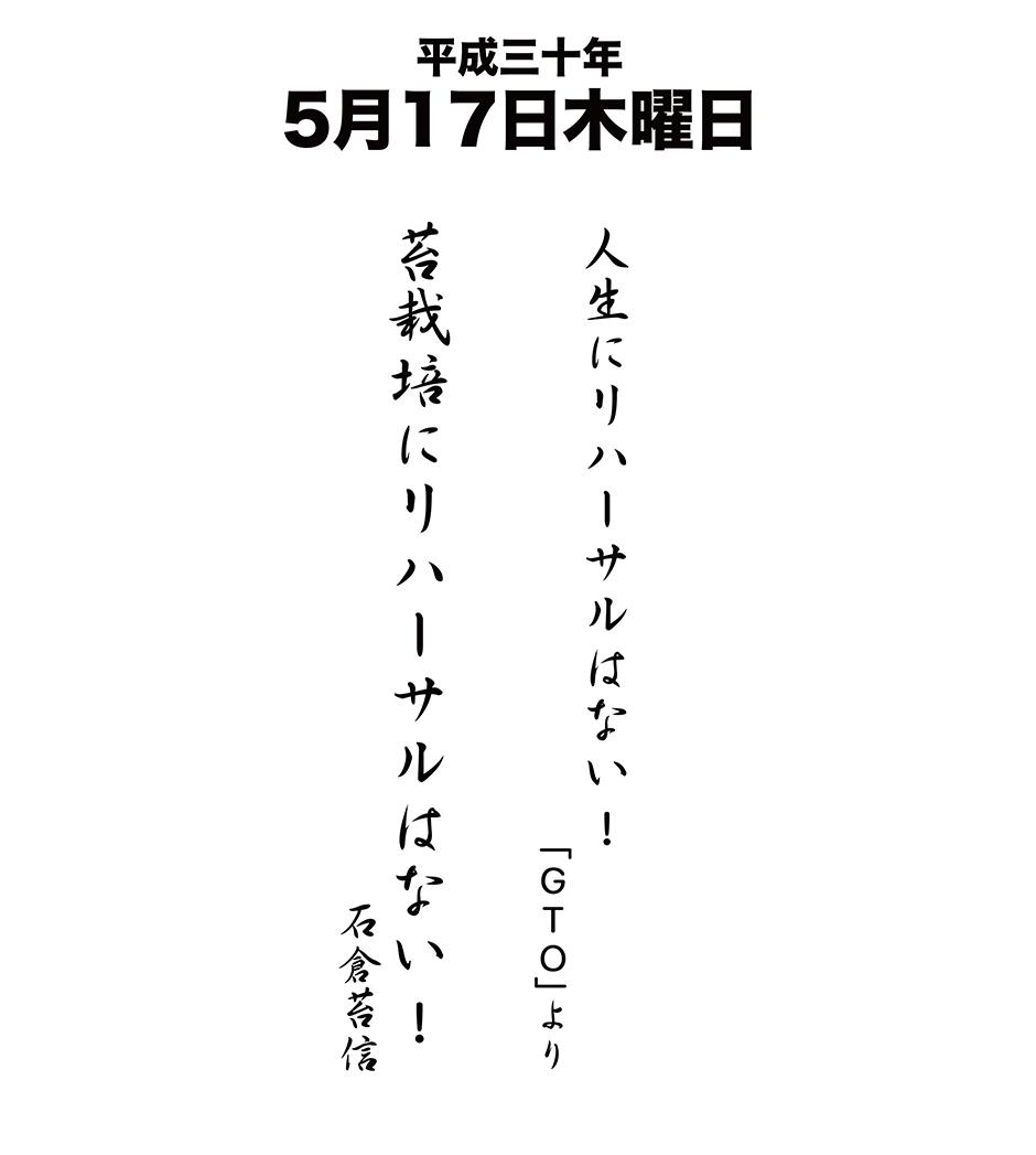 平成30年5月17日