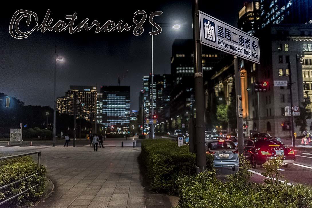 深夜の皇居御濠端 20180613