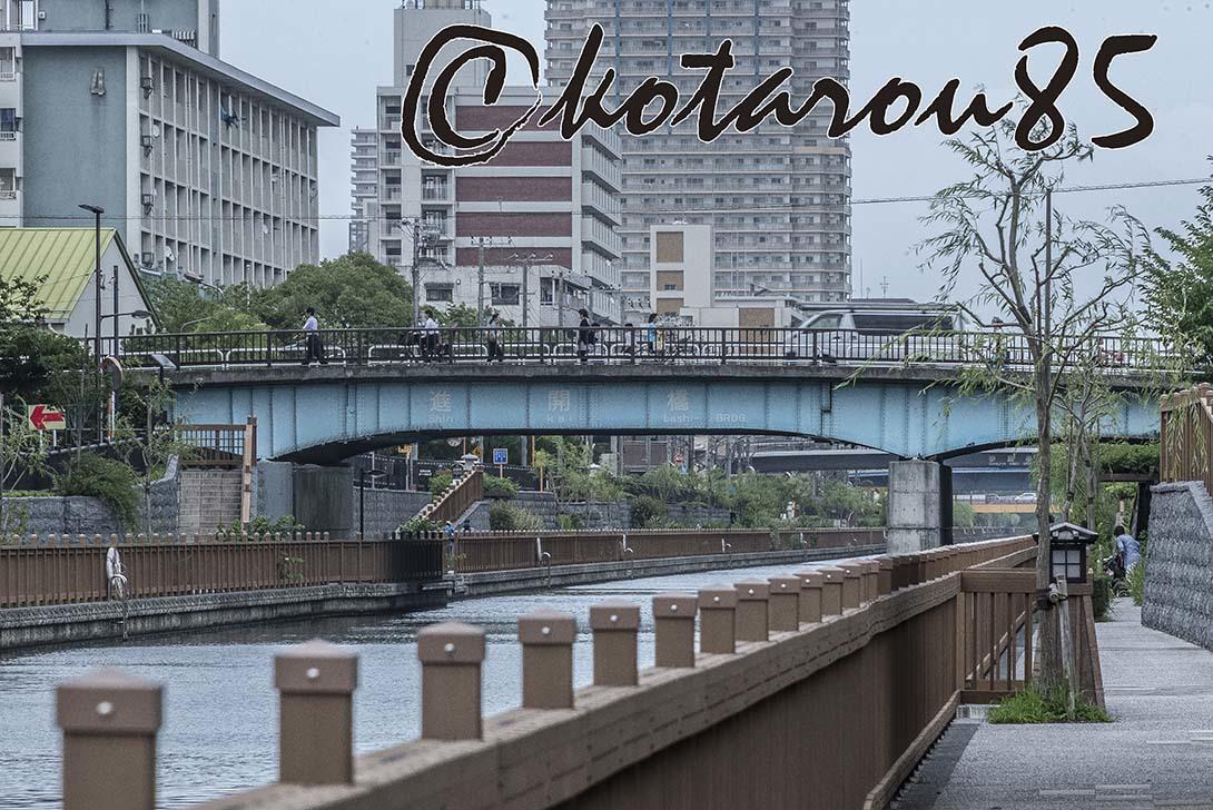 台風前の小名木川2 20180705