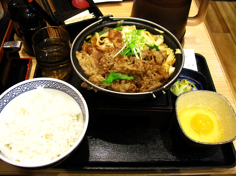 2017_12_12名駅:吉野家 名駅太閤通口店 牛すき鍋膳10