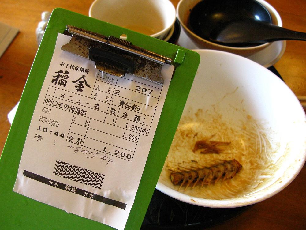 2017_11_05千代保稲荷神社(おちょぼさん):川魚なべ料理 稲金56