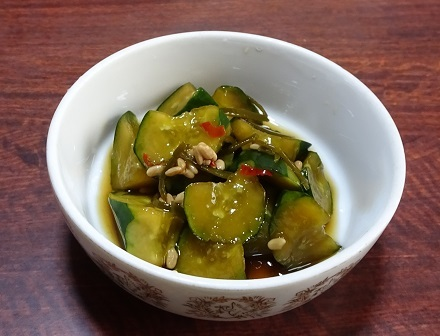 胡瓜の麹醤油漬け