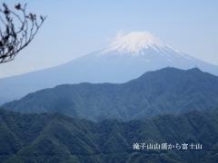 滝子山山頂から冨士山