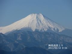 陣馬山から富士山(平成25年2月10日)