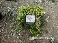 日留賀岳山頂の二等三角点