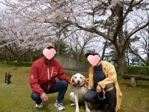 20170410-桜の庭で-家族